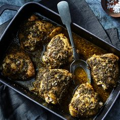 Herbed Chicken Thighs Roasted in a Paper Bag