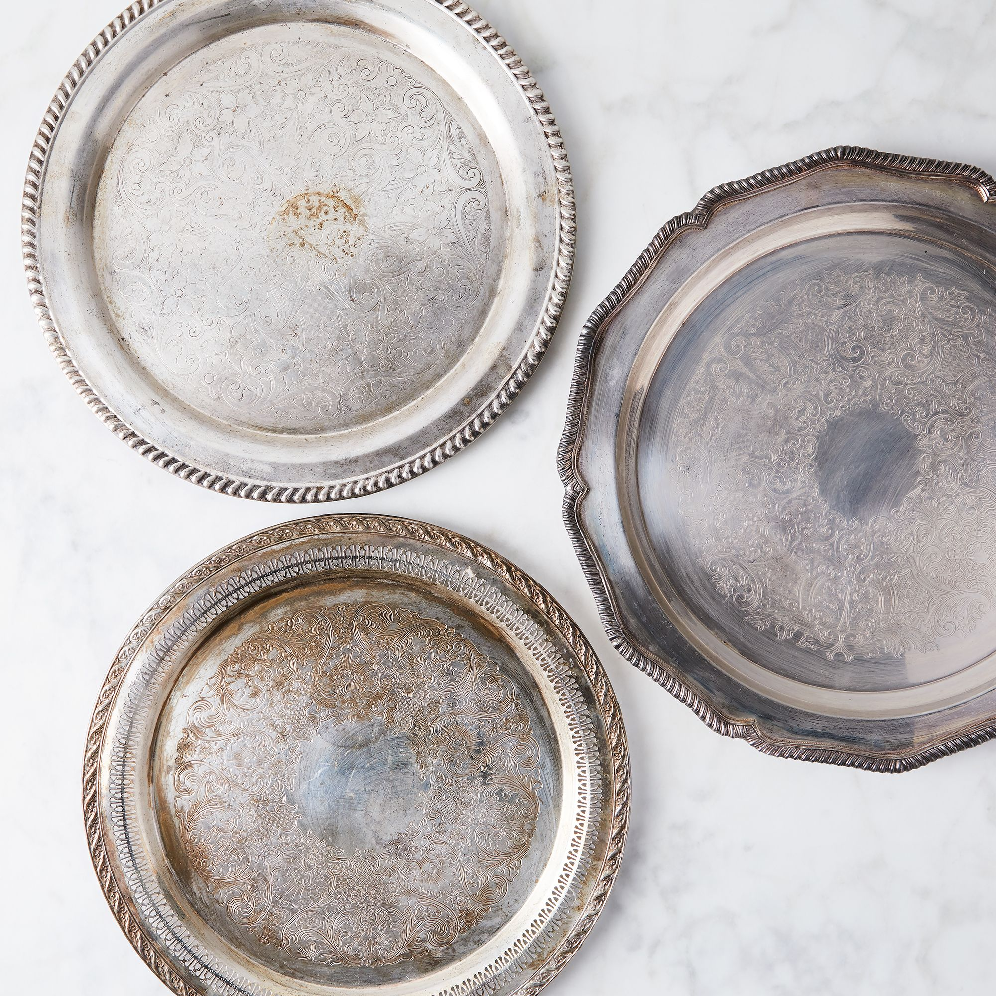 Hester & Cook Vintage Silver-Plated Tea Tray