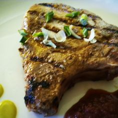 Grilled Pork Chops with Asian Grape Sauce