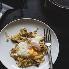 Sesame-Almond Cabbage Egg Nests