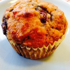Spiced Oatmeal and Blueberry Muffins