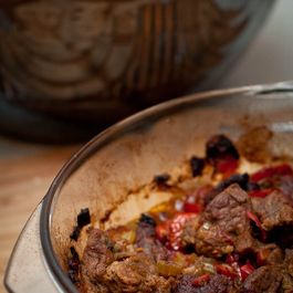 Stew with beef and pepper