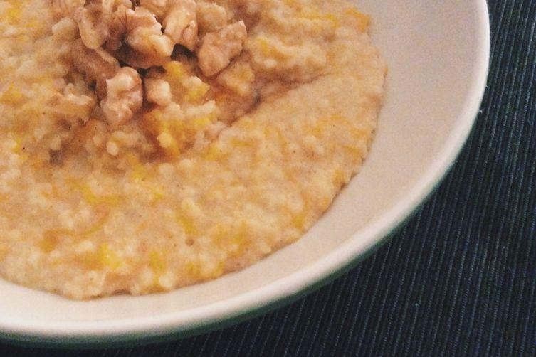 Millet & butternut squash porridge