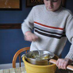 Wasabi and Garlic Mashed Potatoes