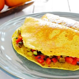 Vegan Roasted Vegetable Omelette