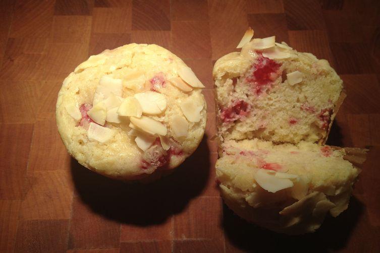 Raspberry Rose Water Muffins