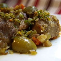 Pork Stew with Fennel, Orange, and Olives