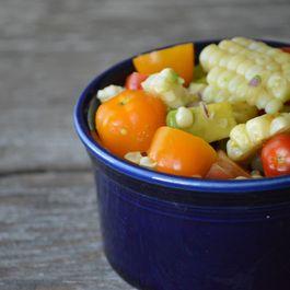 Rosemary Grilled Corn, Tomato and Avocado Salad