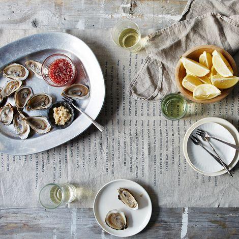 Oyster Linen Table Runner