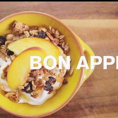 Homemade Granola with Orange Blossom Honey Yogurt