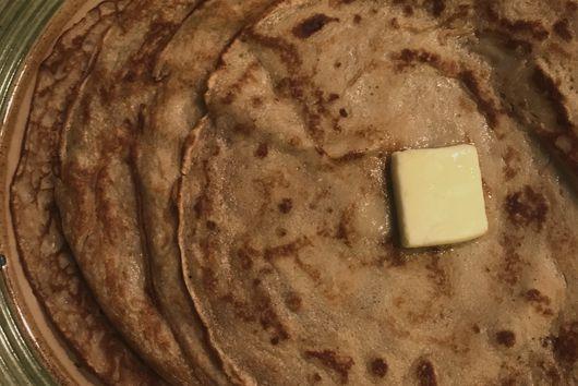 Chestnut Flour Crêpes