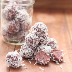 No-bake Raspberry Zinger Bites