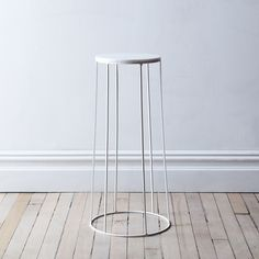 Marble-Topped Wire Side Table