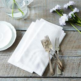 White Seersucker Cloth Napkins (Set of 4)