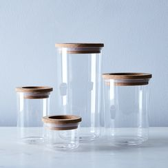 Cork & Glass Airtight Glass Storage Containers (Set of 4)