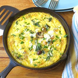 salmon with caramelized onion frittata