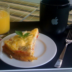 Red pepper egg cake (oven omelette)