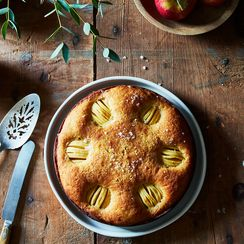 Hasselback Apple Cake