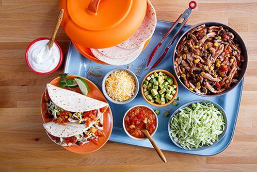 Mango Habanero Slow Cooker Chicken Tacos