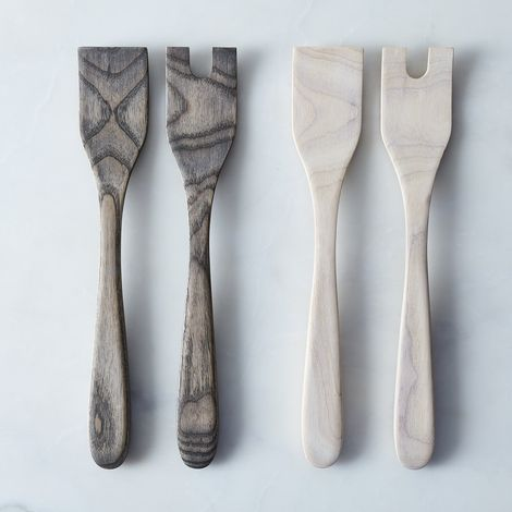Handcrafted Wood Serving Set