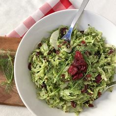 Broccoli and Cranberry Slaw