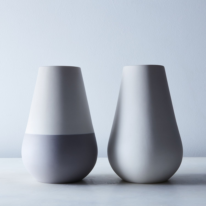 White gray ceramic vase vase tabletop hawkins new york white gray ceramic vase vase tabletop hawkins new york shop food52 on food52 reviewsmspy