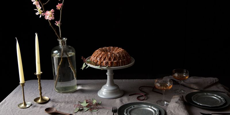 Moody hues, textured accents, and a bundt