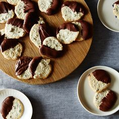 Chocolate-Dipped Seed Cookies