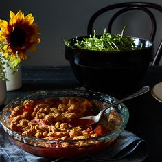 A Very Good Savory Cobbler for Your Not-So-Good Tomatoes