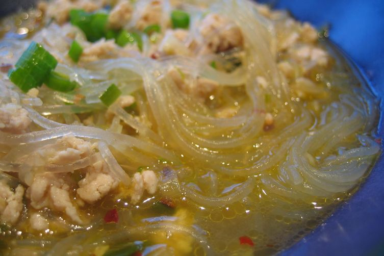Garlic, Green Onion & Glass Noodle Soup