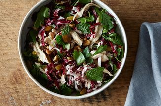 9cf3bbf7 ea28 48a8 bb53 17e6953e19d7  2014 1111 chicken and radicchio salad with pickled raisins 0316