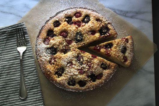 Blackberry-Lavender Almond Cake