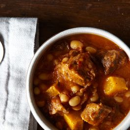 Pork Stew with White Beans and Butternut Squash