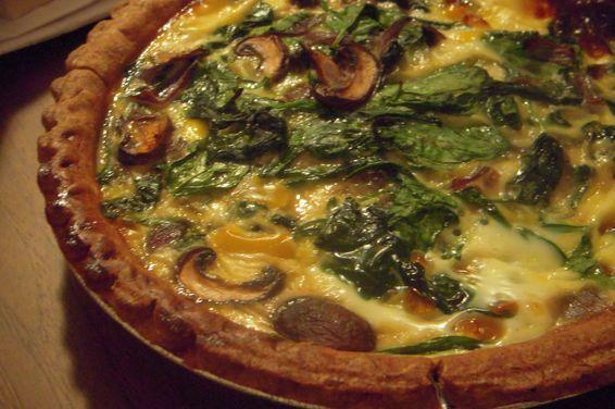 Spinach Mushroom And Mozzarella Quiche Recipe On Food52