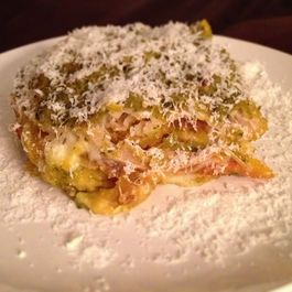 Spicy Stacked Enchiladas Verdes with Roasted Pumpkin and Cheese