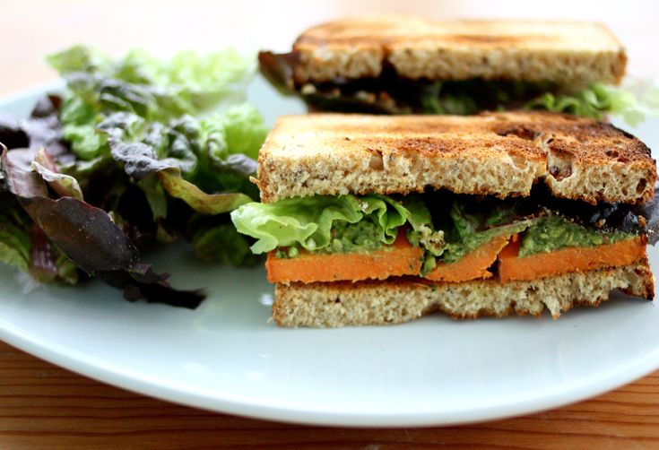 Sweet Potato and Pesto Salad Sandwich