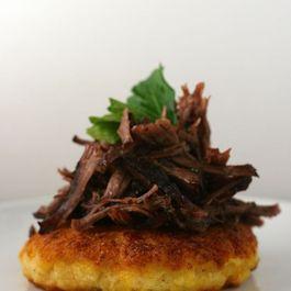 Polenta Cakes with Short Rib Ragu