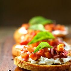 Burrata and Peach Chutney Crostini