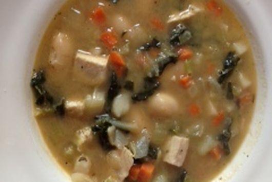 Chicken, Bean & Kale Soup