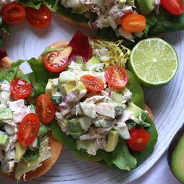 Open-Faced Avocado and Tuna Sandwich