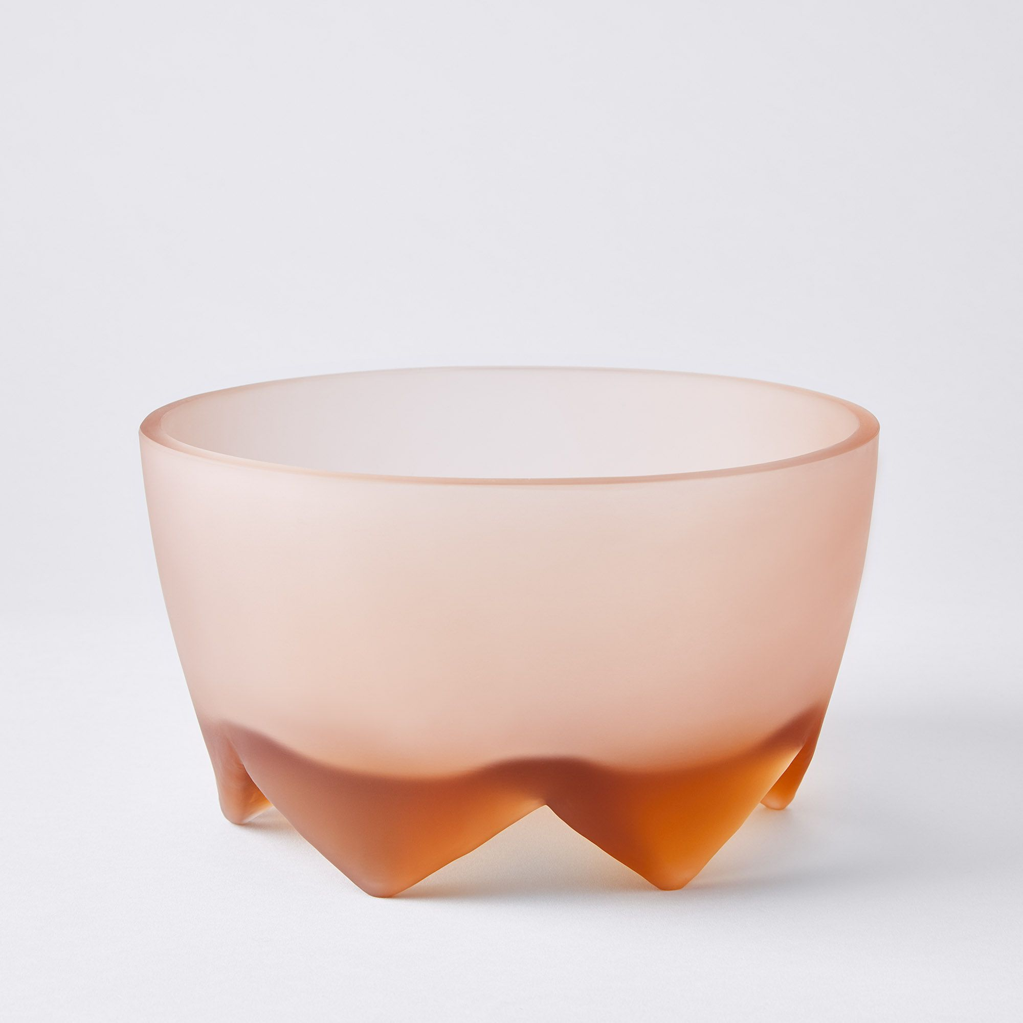 Hawkins New York Frosted Glass Footed Bowl - Large, Blush