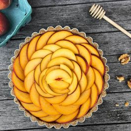 No-Bake Fresh Peach Tart