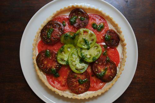 Heirloom Tomato and Lemon Mascarpone Tart on Food52