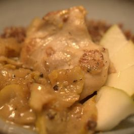 Chicken and Pears Braised in Lemon Mustard Sauce