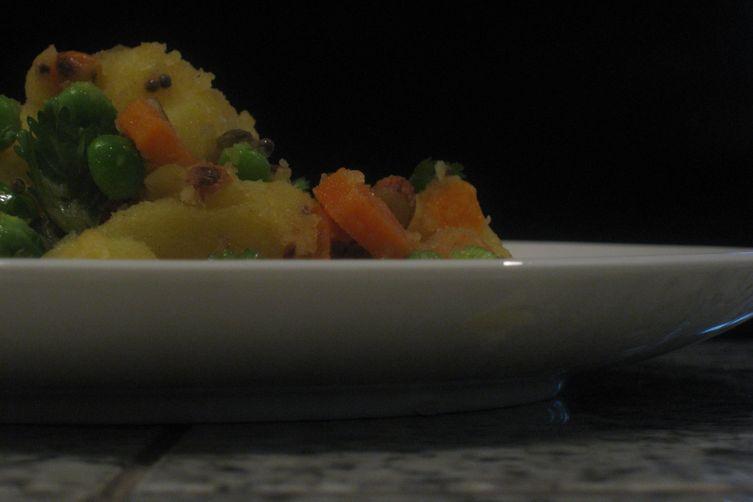 Indian-spiced potato salad