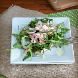 Calamari, Fennel and White Bean Salad with Arugula
