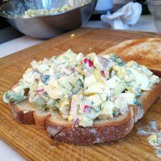 Sharp and tangy egg salad