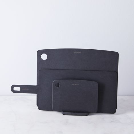 Matte Black Cutting Board Stand Set