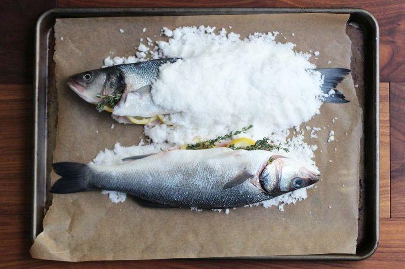 Salt-Baked Branzino