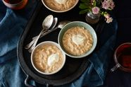 Caramel Rice Pudding with Brown Butter and Creme Fraiche